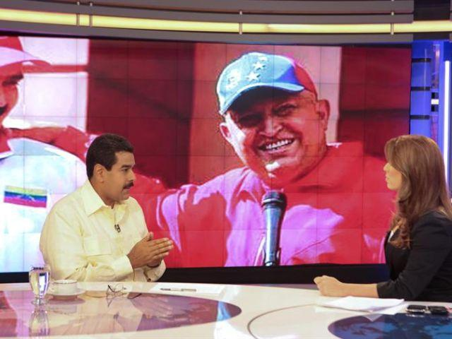 Maduro speaking on Telesur last night (Telesur)