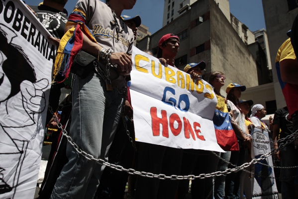 "Opposition students and supporters called for the ""truth"" on Chavez's condition (Jesús Contreras)"