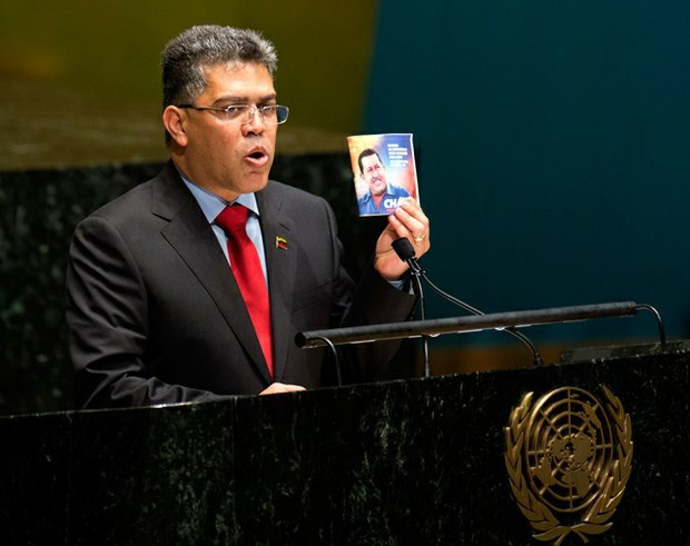 Venezuelan Foreign Minister Elias Jaua spoke before the United Nations General Assembly on Wednesday (AFP)