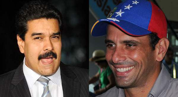 Nicolás Maduro (left) and Henrique Capriles (Fabio Rodrigues Pozzebom/ABr and Wilfredor)