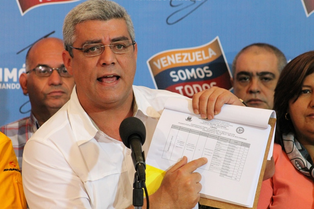 Opposition assembly deputy Alfonso Marquina was one of many Venezuelan politicians making accusations over the weekend (Comando Simon Bolivar)