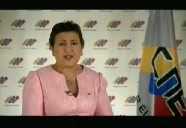 CNE President Tibisay Lucena (VTV)