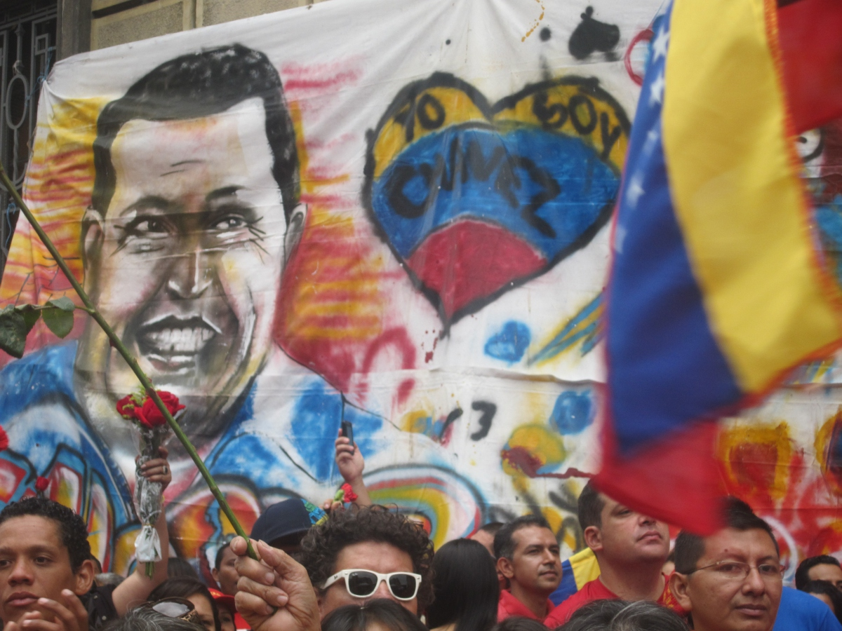 An image of Hugo Chavez at a recent memorial event in Mérida, Venezuela (Ewan Robertson /Venezuelanalysis.com)