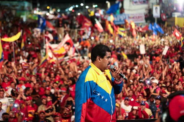 Interim President Nicolas Maduro at a campaign in event in the state of Bolivar on Saturday (agencies)