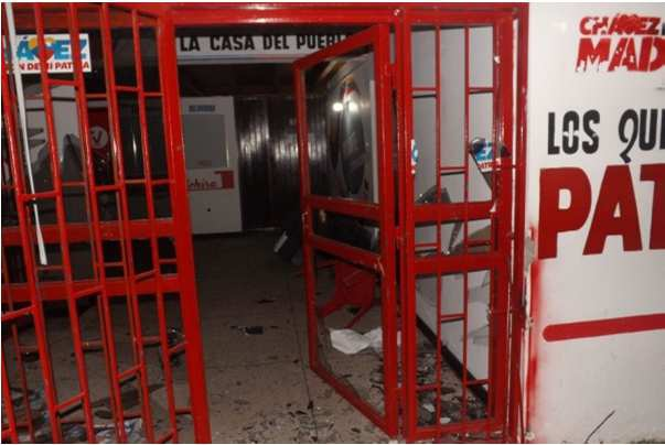 PSUV offices in Táchira after an attack from rightwing groups