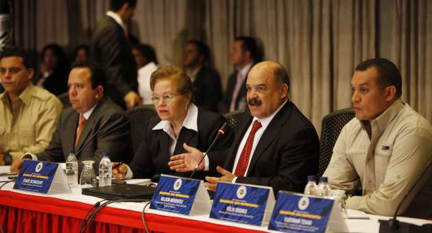 President of Venezuela's Central Bank Nelson Merentes at a meeting on Wednesday (AVN)