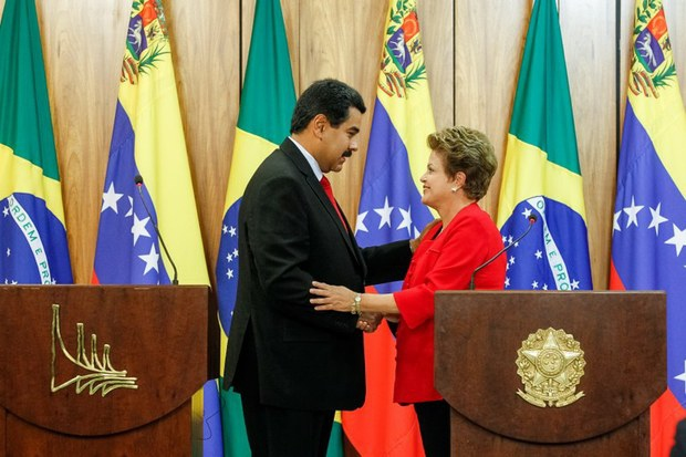 Maduro and Rousseff signed a number of new bilateral agreements, and pledged greater cooperation ahead of Venezuela's term of Mercosur presidency (Palacio de Planalto)