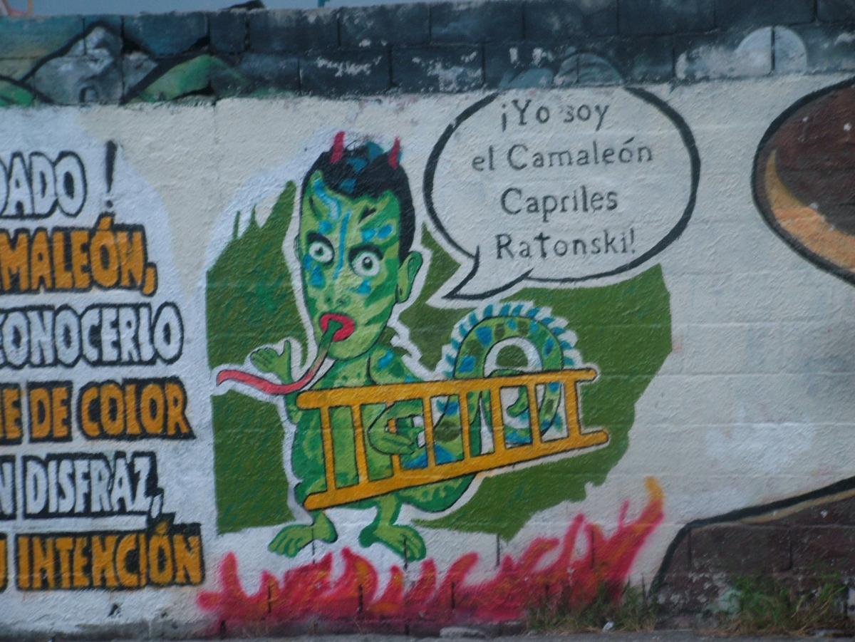 A mural in Merida characterising Henrique Capriles as a chameleon (Tamara Pearson/ Venezuelanalysis.com)
