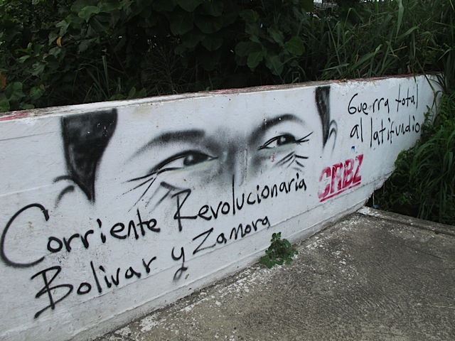 """War on the large landholders - Revolutionary Current Bolivar and Zamora"" (Chris Carlson/ Venezuelanalysis.com)"