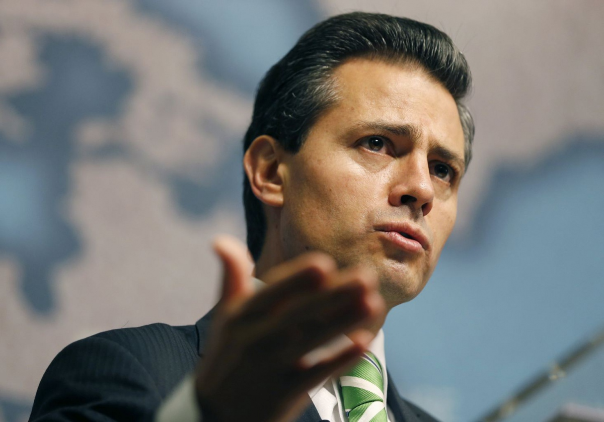 During a lecture at London's Chatham House, Peña ruled out meeting with the Venezuelan opposition leader (Olivia Harris/Reuters)