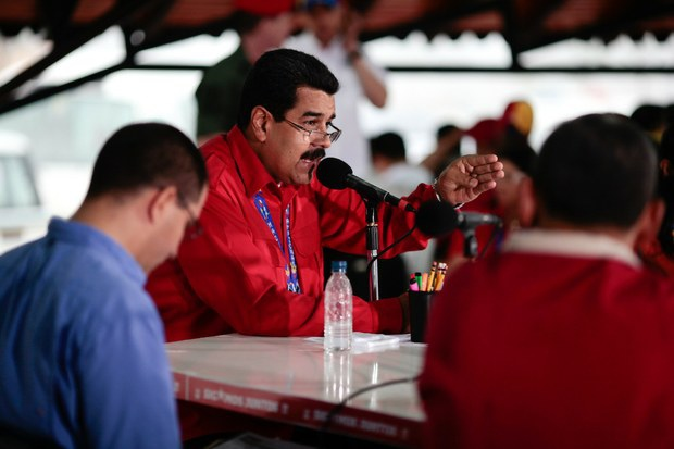 President Nicolas Maduro in Amazonas state, announcing the arrests (AVN)