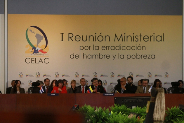 CELAC's first ministerial meeting on the eradication of poverty and hunger took place in Caracas this week (Zurimar Campos /AVN)