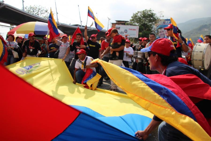 Supporters of Nicolas Maduro in Merida in April (Ryan Mallett-Outtrim/Venezuelanalysis)
