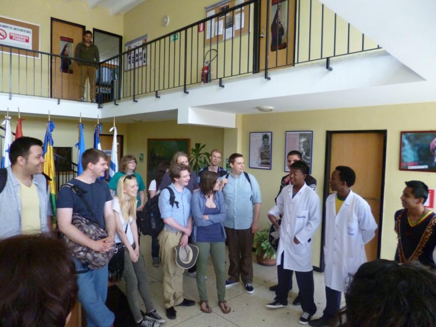 The delegation at the Salvador Allende School of Medicine (VSC)