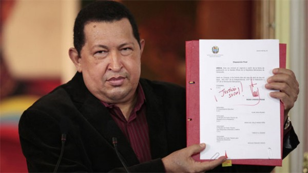 Four Enabling Laws were approved under late President Hugo Chavez (Correo del Orinoco)