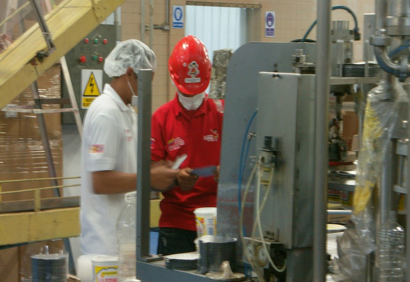 Workers in a Diana plant (Aporrea Tvi)