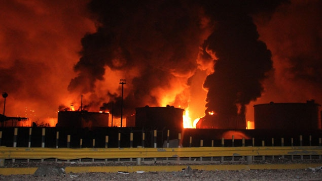 The explosion at the Amuay refinery on 25 August 2012 left 42 dead and 120 wounded (EFE)