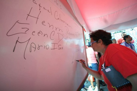 February this year, PSUV members choosing their candidates in Zulia state (Prensa Oficial Zulia)