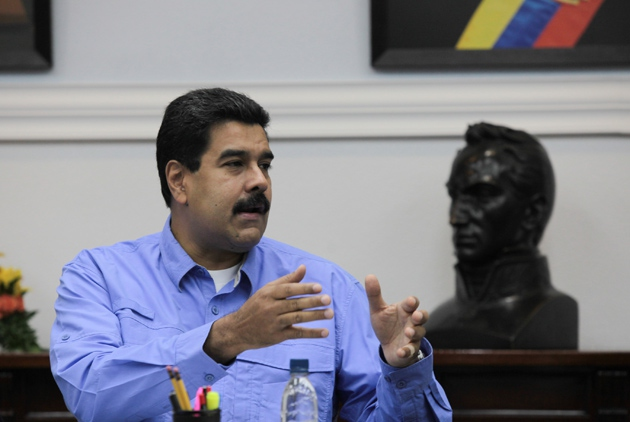 Venezuelan president Maduro has condemned the recording as the work of the right-wing opposition (Prensa Presidencial)