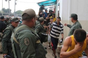 Sabaneta prison, was peacefully evacuated yesterday following a violent clash between inmates on Monday (Sibci) (one of the ones from below, whichever seems best)