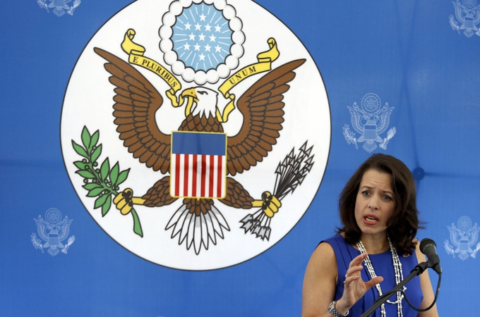 The US gave the Venezuelan diplomats 48 hours to leave, the same period of time given for Keiderling (pictured above) and two other US officials to leave Venezuela on Monday (Reuters)