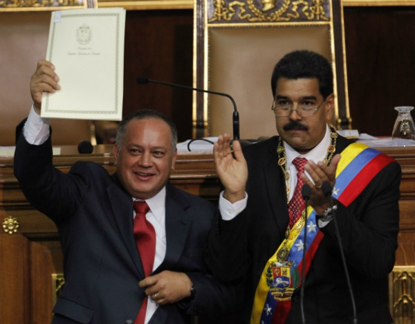 Maduro requesting the enabling law on Tuesday (Prensa Presidencial)