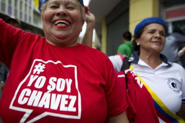 A woman at yesterday's march (Correo del Orinoco)