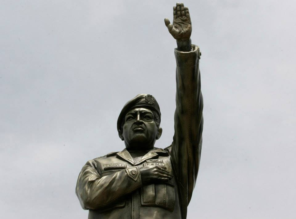 A statue of Venezuela's former president Hugo Chavez is seen at the main avenue of the Riberalta town in the Beni Province, at the northeast of La Paz November 6, 2013. Bolivia's President Evo Morales inaugurated the statue at Beni-Mamore avenue during 187th anniversary of Bolivia's Navy Force foundation, according to local media. (REUTERS/Gaston Brito)