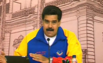 "Venezuelan president Nicolas Maduro has denounced a ""massive"" Twitter attack against the Venezuelan government (agencies)"