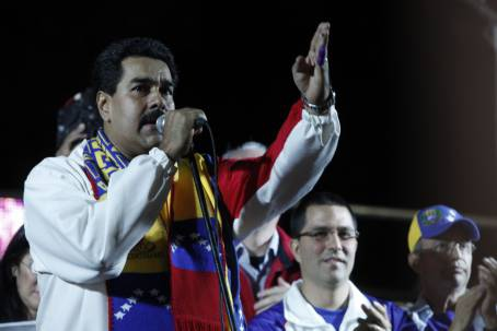 After the results were announced, President Nicolas Maduro gave a televised speech from the Plaza Bolivar in central Caracas to celebrate the win (AVN)