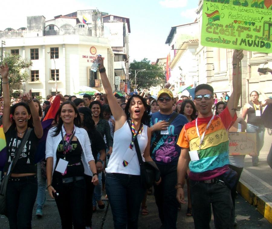 March for sexual diversity in Merida in 2013 (Tamara Pearson/Venezuelanalysis)
