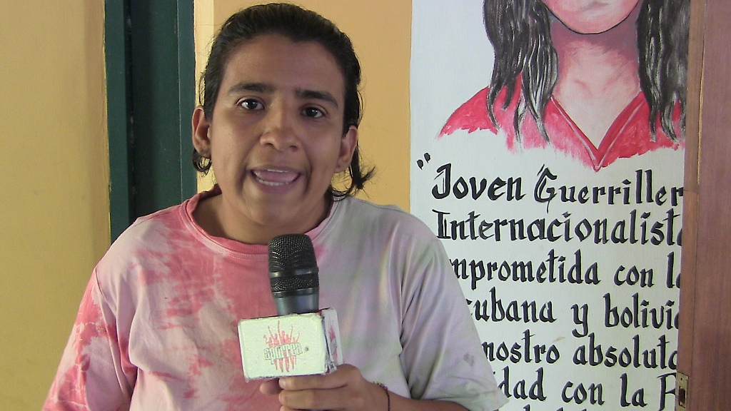 Yusmery Escobar, one of many activists demanding since last year that the government combat the assassination of rural activists in the mountains of Lara state, western Venezuela (Aporrea).