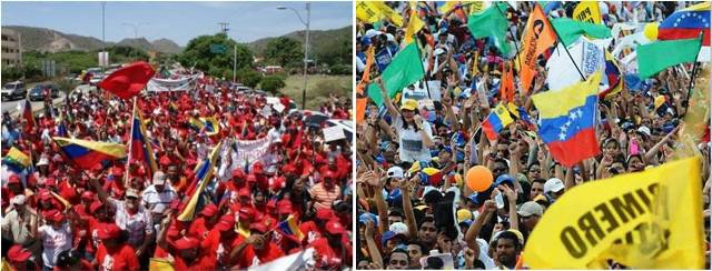 2013 was marked by repeated mass mobilisations of both Chavistas and opposition supporters, due to the passing of Hugo Chavez and the holding of two national elections (archive)