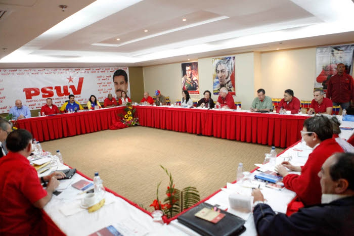 Meeting of the national leadership of the PSUV yesterday in Anzoategui (AVN)
