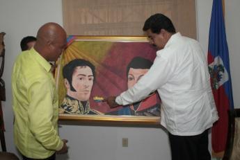 Maduro with Haiti's Martelly (Prensa Presidencial)
