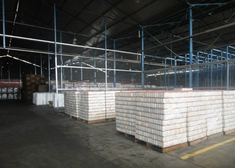 Mayonnaise in warehouse storage waiting to be collected for sale. (Denis Sergeyevich Rogatyuk)