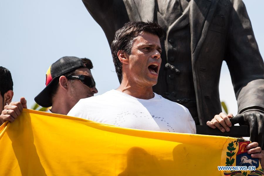 Leopoldo Lopez last week (Xinhua/Boris Vergara)