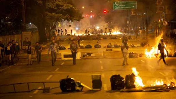 Violent protests in the Altamira area of Caracas (AP)