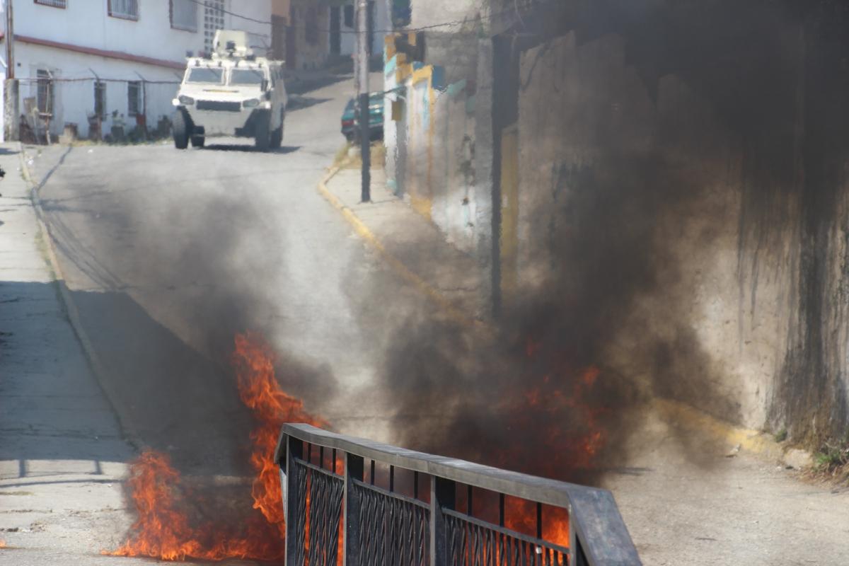 Clashes in Merida on 24 February (Ryan Mallett-Outtrim/Venezuelanalysis)