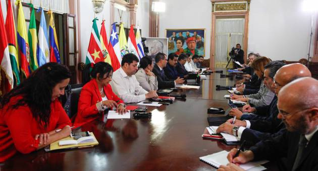 The UNASUR delegation visited Venezuela this week to meet with the government, opposition and social movements. (AVN)
