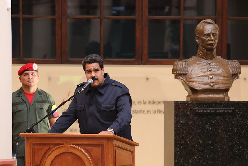 Maduro has frozen ties with Panama, and rejected calls for OAS involvement in Venezuela. (MINCI)