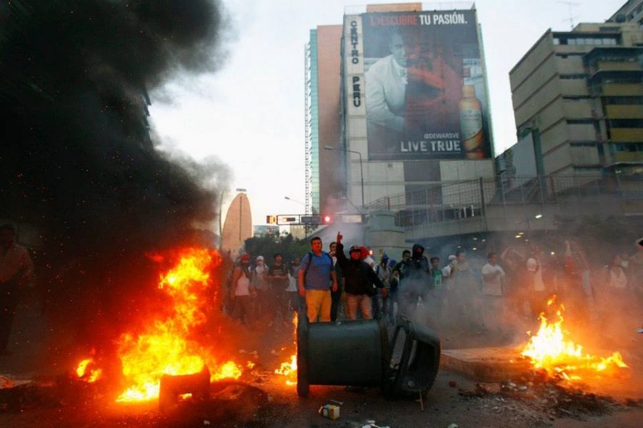 Violent opposition protests last month. (Reuters)
