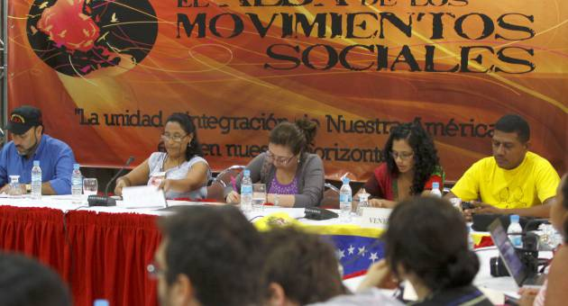 ALBA social movements concluded their conference in Caracas today. (AVN)