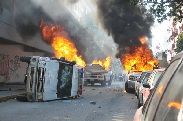 Police vehicles torched in February (Archive)