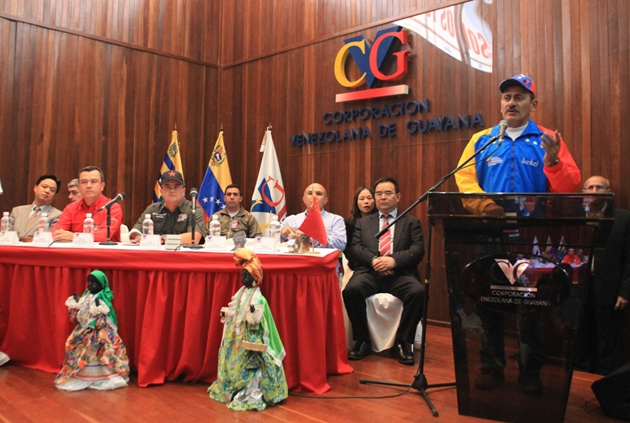 Cabello announced that two CVG subsidiaries have signed new deals under the Joint China-Venezuela Fund (Sidor Press)