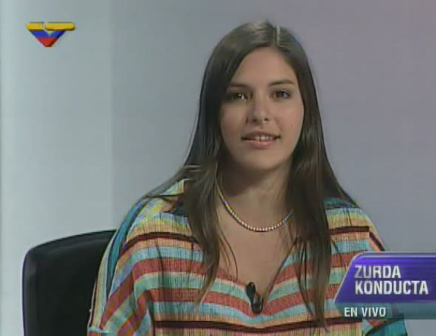 Jennifer Mujica speaking on VTV last night (VTV)