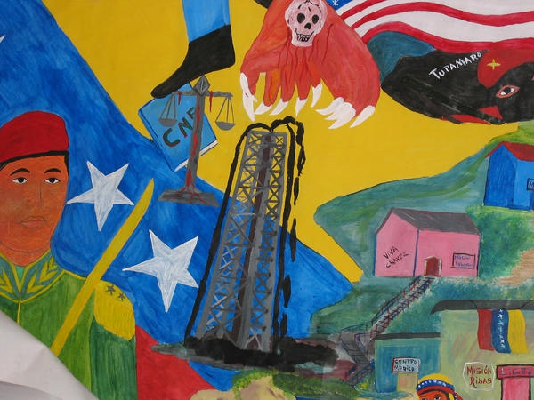 Mural in the barrio of La Vega, Caracas. Photo by Sujatha Fernandes.