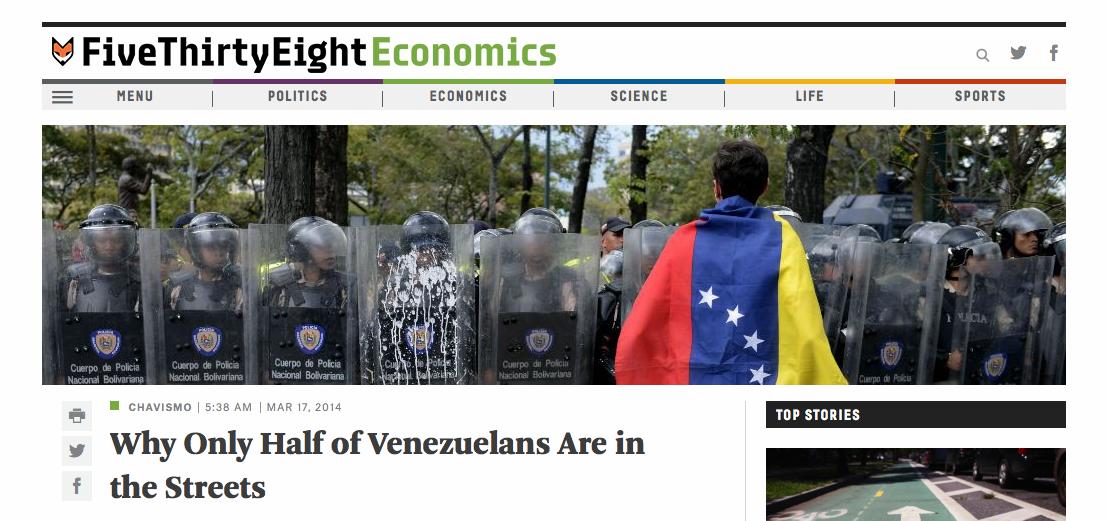 FiveThirtyEight.com features Venezuelan economy