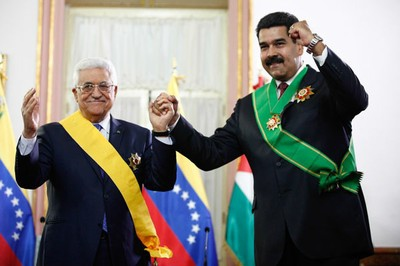 Mahmoud Abbas and Nicolas Maduro (AVN)
