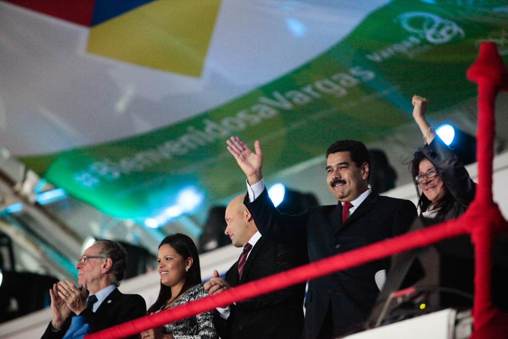 President Nicolas Maduro, his wife and Chavista politician Cilia Flores, and the late Hugo Chavez's daughter María were present at the event (YOSET MONTES Y MIGUEL ANGULO PRENSA MIRAFLORES)
